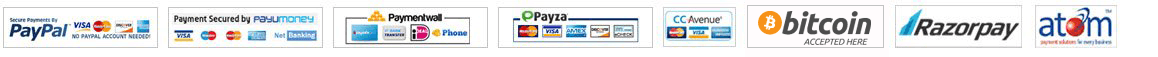 We accept PayPal, 2Checkout, Paymentwall, Payza, All Major Credit Cards and BitCoin.