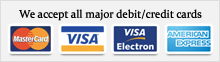 We accept all major debit/credit cards